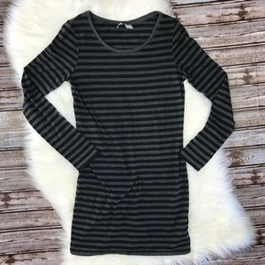 Divided H&M Striped Long Sleeve Tunic Dress